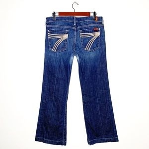 7 FOR ALL MANKIND Dojo Dark Wash Trouser Jeans 31